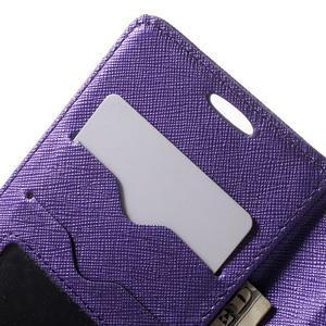 Crossy koženkové pouzdro na Samsung Galaxy J5 - fialové - 6