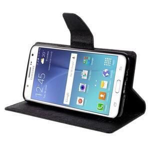 Diary PU kožené pouzdro na mobil Samsung Galaxy J5 (2016) - černé - 6
