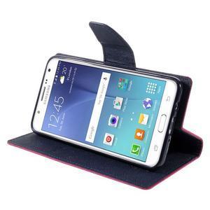 Diary PU kožené pouzdro na mobil Samsung Galaxy J5 (2016) - rose - 6