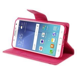 Diary PU kožené pouzdro na mobil Samsung Galaxy J5 (2016) - růžové - 6