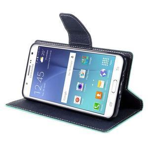 Diary PU kožené pouzdro na mobil Samsung Galaxy J5 (2016) - azurové - 6