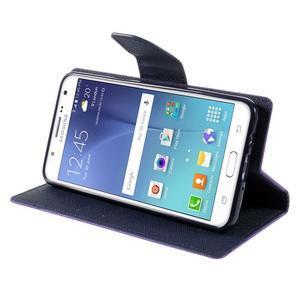 Diary PU kožené pouzdro na mobil Samsung Galaxy J5 (2016) - fialové - 6