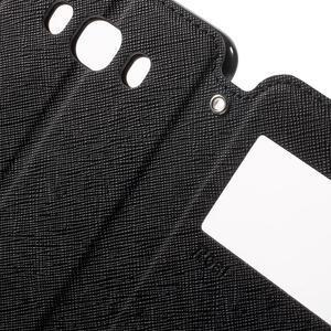 Knížkové pouzdro s okýnkem na Samsung Galaxy J5 (2016) - černé - 6