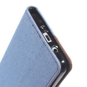 Denim peněženkové pouzdro na Samsung Galaxy J5 (2016) - světlemodré - 6
