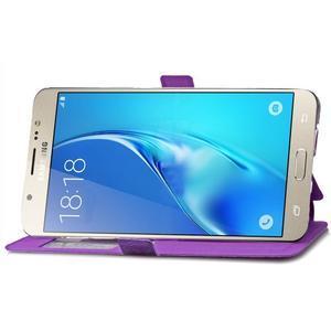 Stars pouzdro s okýnkem na mobil Samsung Galaxy J5 (2016) - fialové - 6