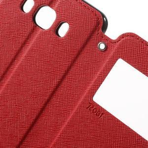 Knížkové pouzdro s okýnkem na Samsung Galaxy J5 (2016) - červené - 6