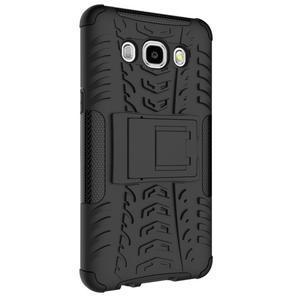 Outdoor odolný obal se stojánkem na Samsung Galaxy J5 (2016) - černý - 6