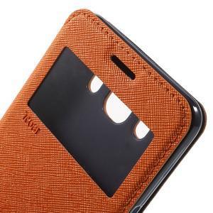 Knížkové pouzdro s okýnkem na Samsung Galaxy J5 (2016) - oranžové - 6