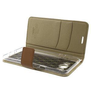 Gentle PU kožené peněženkové pouzdro na Samsung Galaxy J5 (2016) - khaki - 6