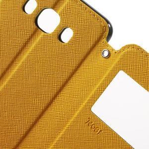 Knížkové pouzdro s okýnkem na Samsung Galaxy J5 (2016) - žluté - 6