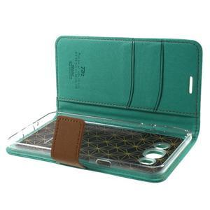 Gentle PU kožené peněženkové pouzdro na Samsung Galaxy J5 (2016) - zelenomodré - 6