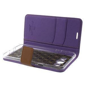 Gentle PU kožené peněženkové pouzdro na Samsung Galaxy J5 (2016) - fialové - 6