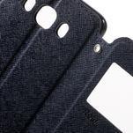 Knížkové pouzdro s okýnkem na Samsung Galaxy J5 (2016) - tmavěmodré - 6/7