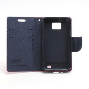 Diary PU kožené pouzdro na mobil Samsung Galaxy S2 - rose - 6
