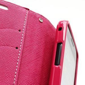Diary PU kožené pouzdro na mobil Samsung Galaxy S2 - růžové - 6