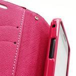 Diary PU kožené pouzdro na mobil Samsung Galaxy S2 - růžové - 6/6