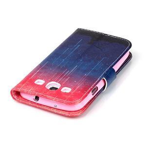 Emotive peněženkové pouzdro na Samsung Galaxy S3 - meteory - 6