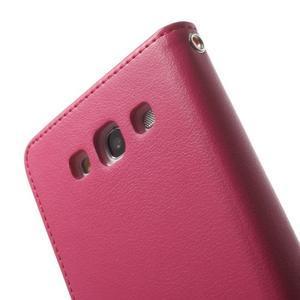 RichDiary PU kožené pouzdro na Samsung Galaxy S3 - rose - 6