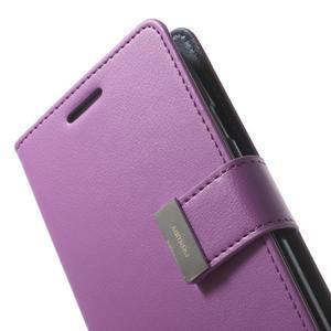 RichDiary PU kožené pouzdro na Samsung Galaxy S3 - fialové - 6