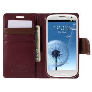 Diary PU kožené pouzdro na mobil Samsung Galaxy S3 - vínové - 6