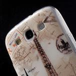Ultratenký gelový obal na mobil Samsung Galaxy S3 - Eiffelova věž - 6/7