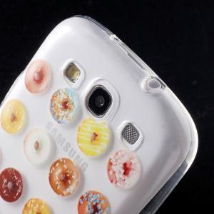 Ultratenký gelový obal na mobil Samsung Galaxy S3 - donuts - 6