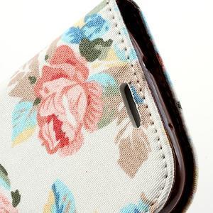 Květinové pouzdro na mobil Samsung Galaxy S3 - bílé poazdí - 6