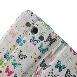 Knížečkové pouzdro na Samsung Galaxy S3 - motýlci - 6