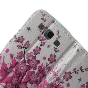 Knížečkové pouzdro na Samsung Galaxy S3 - kvetoucí větvička - 6