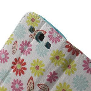 Knížečkové pouzdro na Samsung Galaxy S3 - květinky - 6