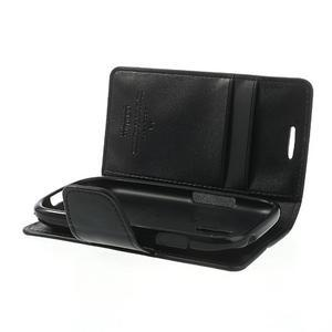 Diary PU kožené pouzdro na Samsung Galaxy S3 mini - černé - 6