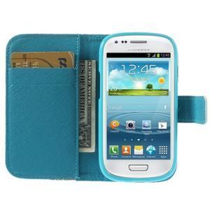 Knížkové pouzdro na mobil Samsung Galaxy S3 mini - květinová koláž - 6