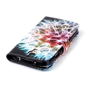 Emotive knížkové pouzdro na Samsung Galaxy S4 - barevená pampeliška - 6