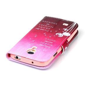 Emotive knížkové pouzdro na Samsung Galaxy S4 - pampelišky - 6