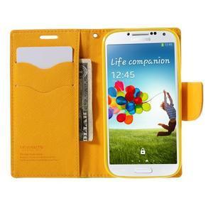 Sunny PU kožené pouzdro na mobil Samsung Galaxy S4 - zelené - 6