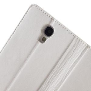 Diary PU kožené pouzdro na mobil Samsung Galaxy S4 - bílé - 6