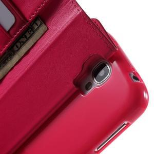 Diary PU kožené pouzdro na mobil Samsung Galaxy S4 - rose - 6