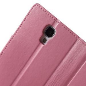 Diary PU kožené pouzdro na mobil Samsung Galaxy S4 - růžové - 6