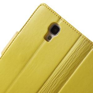 Diary PU kožené pouzdro na mobil Samsung Galaxy S4 - žluté - 6