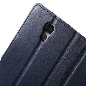 Diary PU kožené pouzdro na mobil Samsung Galaxy S4 - tmavěmodré - 6