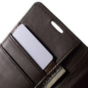 Diary PU kožené pouzdro na mobil Samsung Galaxy S4 - coffee - 6