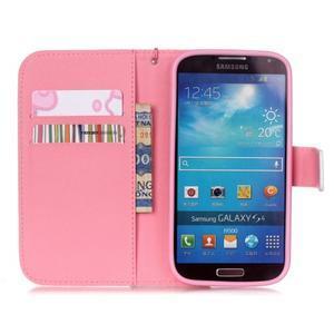 Knížkové koženkové pouzdro na Samsung Galaxy S4 - flower - 6