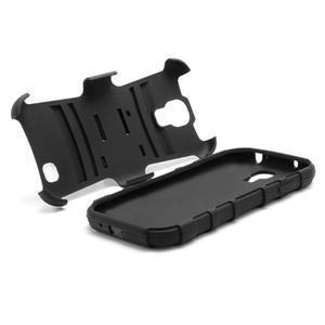 Odolný ochranný silikonový kryt na Samsung Galaxy S4 - černý - 6
