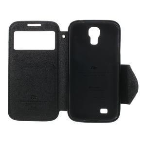 Okýnkové peněženkové pouzdro na mobil Samsung Galaxy S4 - černé - 6
