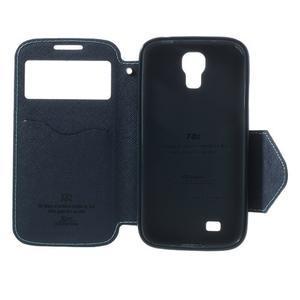 Okýnkové peněženkové pouzdro na mobil Samsung Galaxy S4 - světlemodré - 6
