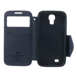 Okýnkové peněženkové pouzdro na mobil Samsung Galaxy S4 - fialové - 6