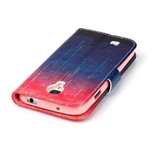 Emotive peněženkové pouzdro na Samsung Galaxy S4 mini - meteory - 6