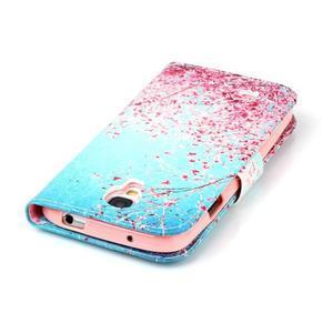 Emotive peněženkové pouzdro na Samsung Galaxy S4 mini - kvetoucí švestka - 6