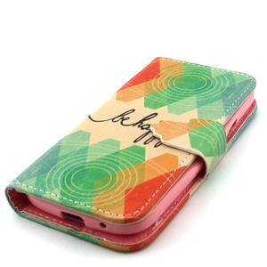 Diaryleather pouzdro na mobil Samsung Galaxy S4 mini - be happy - 6