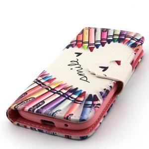 Diaryleather pouzdro na mobil Samsung Galaxy S4 mini - smile - 6